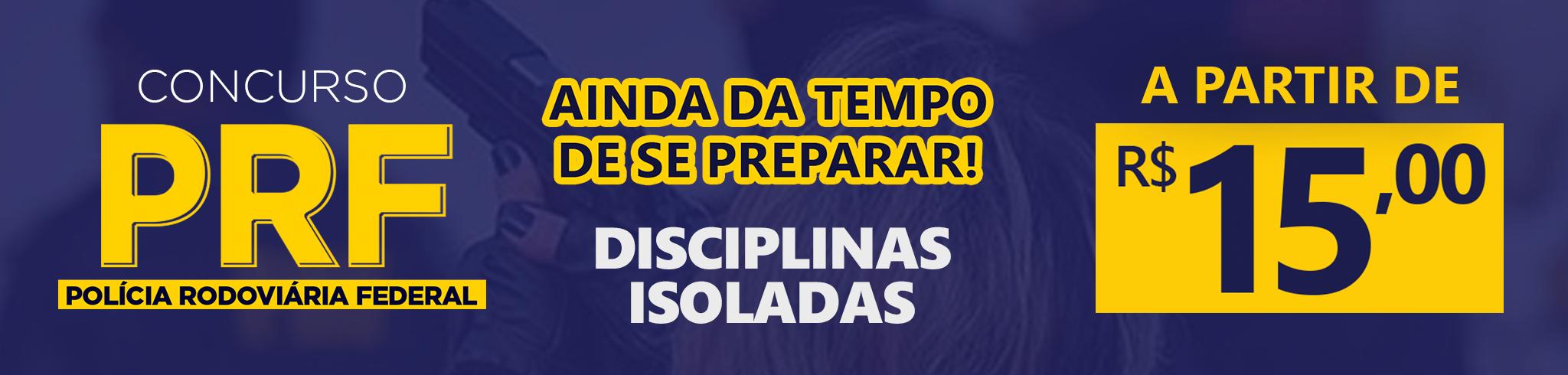 PRF - Disciplinas Isoladas